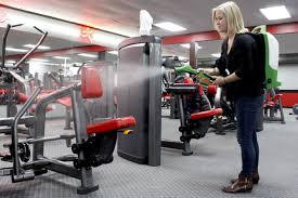Sanitising a gym